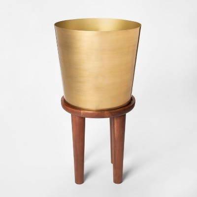 Plant Stand Tall - Wood/Gold - Threshold™