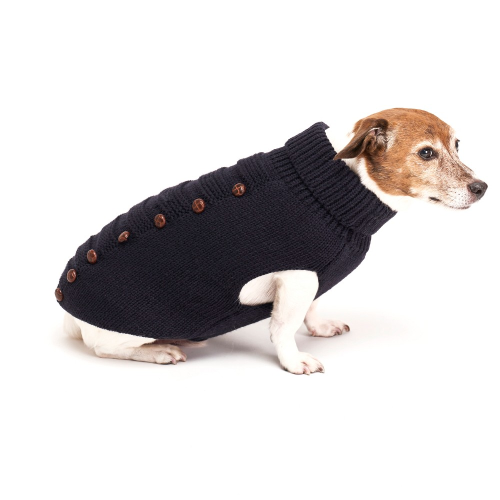 Royal Animals Turtleneck Dog sweater - Navy - S, Blue