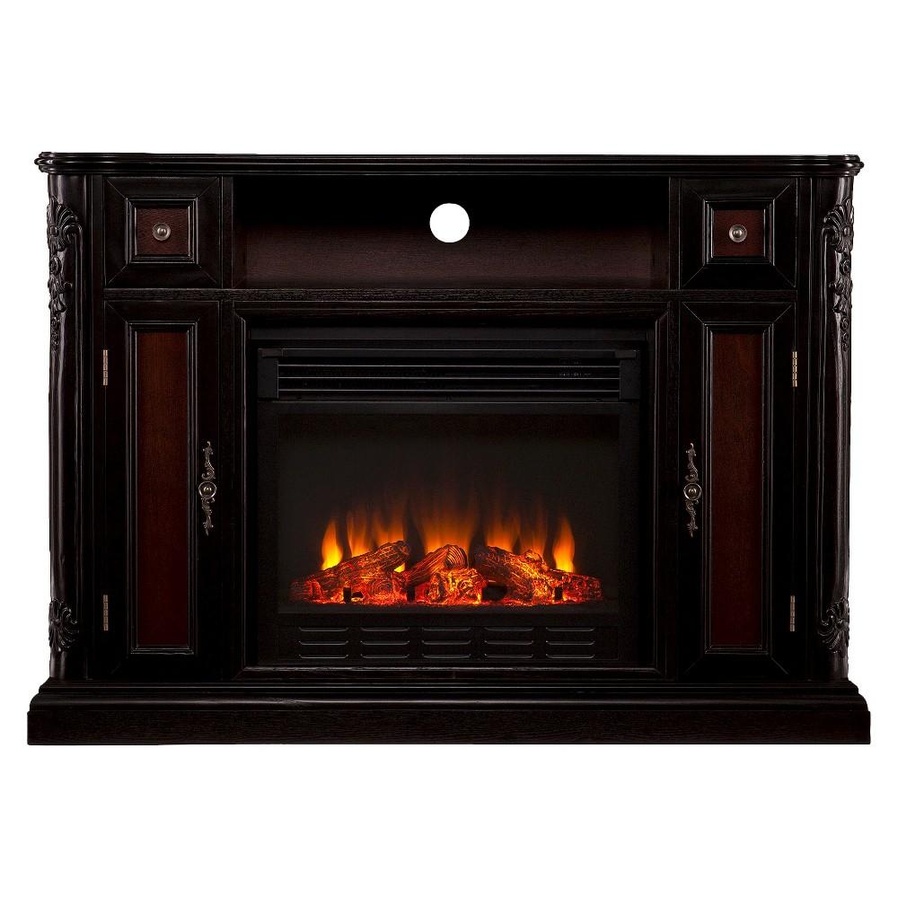 Janelle Electric Media Fireplace - Dark Tobacco, Black