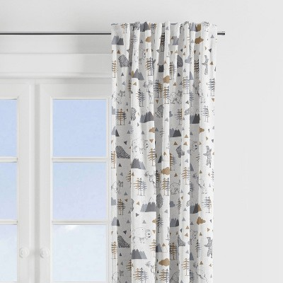 Bacati - Woodlands Animals Beige/Grey Curtain Panel