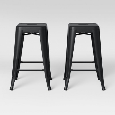 "Set of 2 24"" Carlisle Metal Counter Height Barstool - Threshold™"