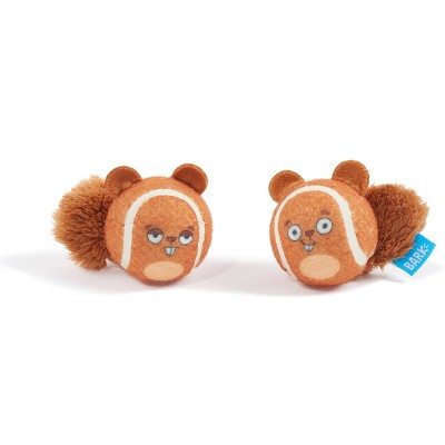 Bark Double Trouble Squirrel Balls Dog Toy