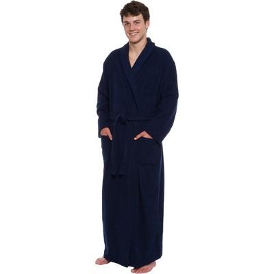Ross Michaels Men's Big & Tall Full Length Cotton Terry Bathrobe