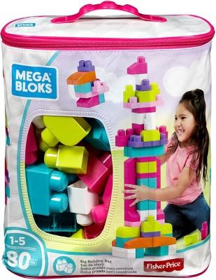 Mega Bloks Big Building Bag - Pink