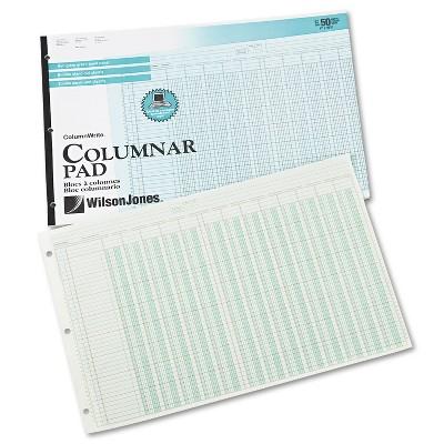 Wilson Jones Accounting Pad 13 Eight-Unit Columns 11 x 16 3/8 50-Sheet Pad G7213A