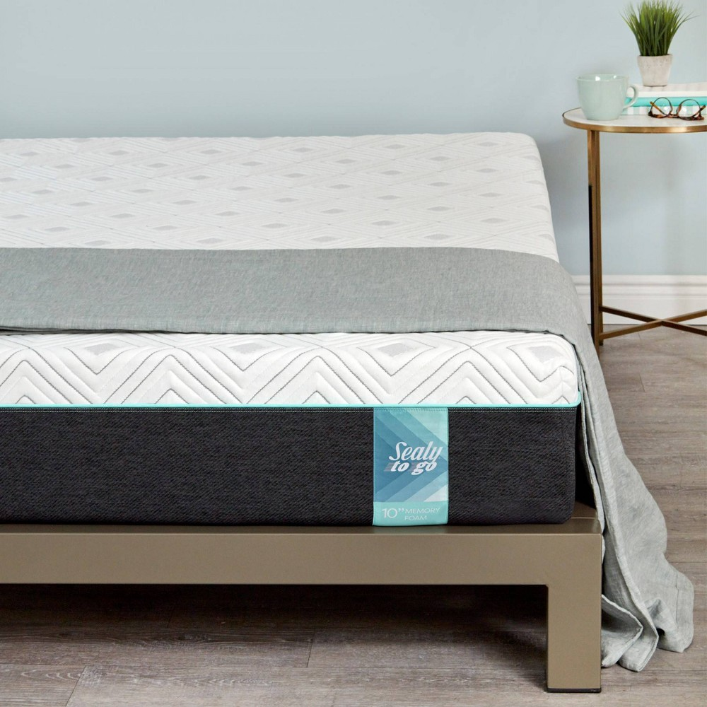 "Image of ""10"""" Memory Foam Mattress - Sealy - California King, White"""