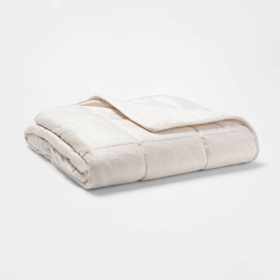 10lb Weighted Throw Blanket Ivory - Tranquility