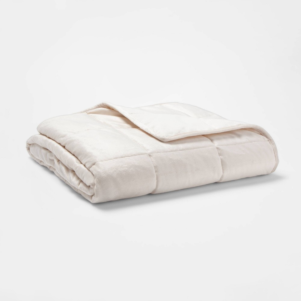 Image of 10lb Weighted Throw Blanket Ivory - Tranquility
