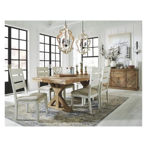 Grindleburg Rectangular Dining Room Table Light Brown Signature Design By Ashley Target