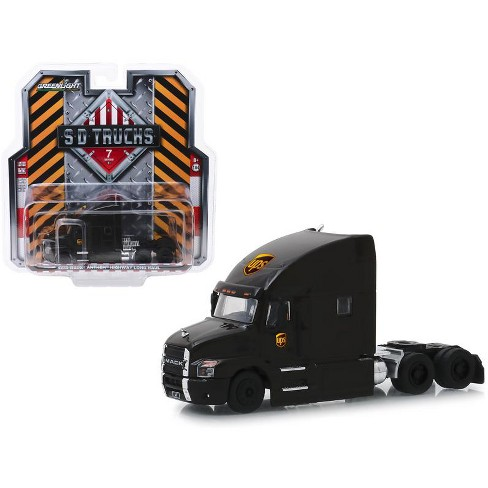 "2019 Mack Anthem Highway Long Haul Truck Brown ""UPS"" (United Parcel Service) 1/64 Diecast Model by Greenlight - image 1 of 1"