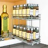"""Lynk Professional Slide Out Double Spice Rack Upper Cabinet Organizer - 4"""" Wide - image 2 of 4"""