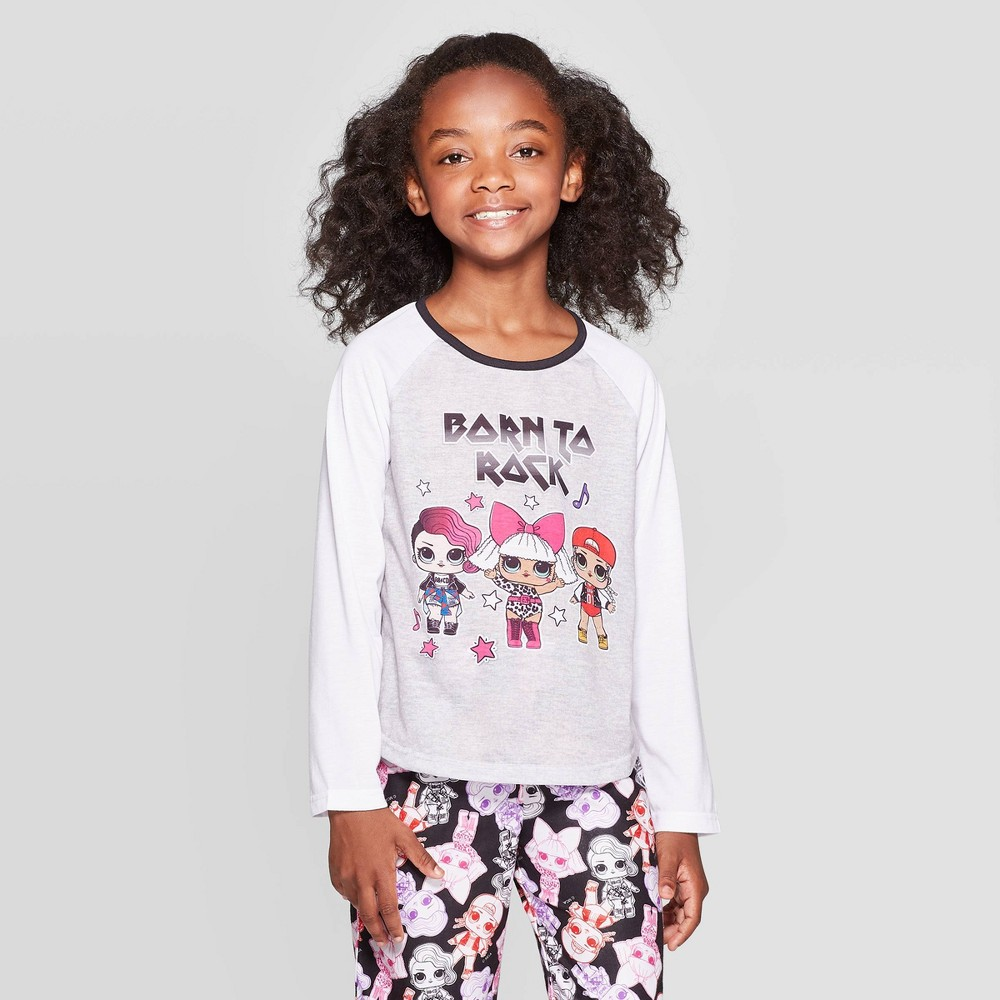 Image of Girls' L.O.L. Surprise! 2pc Pajama Set - White 6, Girl's