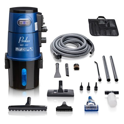 Prolux Professional Shop Wall Mounted Vacuum - Blue