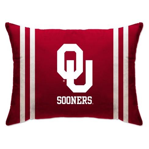 "NCAA Oklahoma Sooners 20""x26"" Standard Logo Bed Pillow - image 1 of 1"