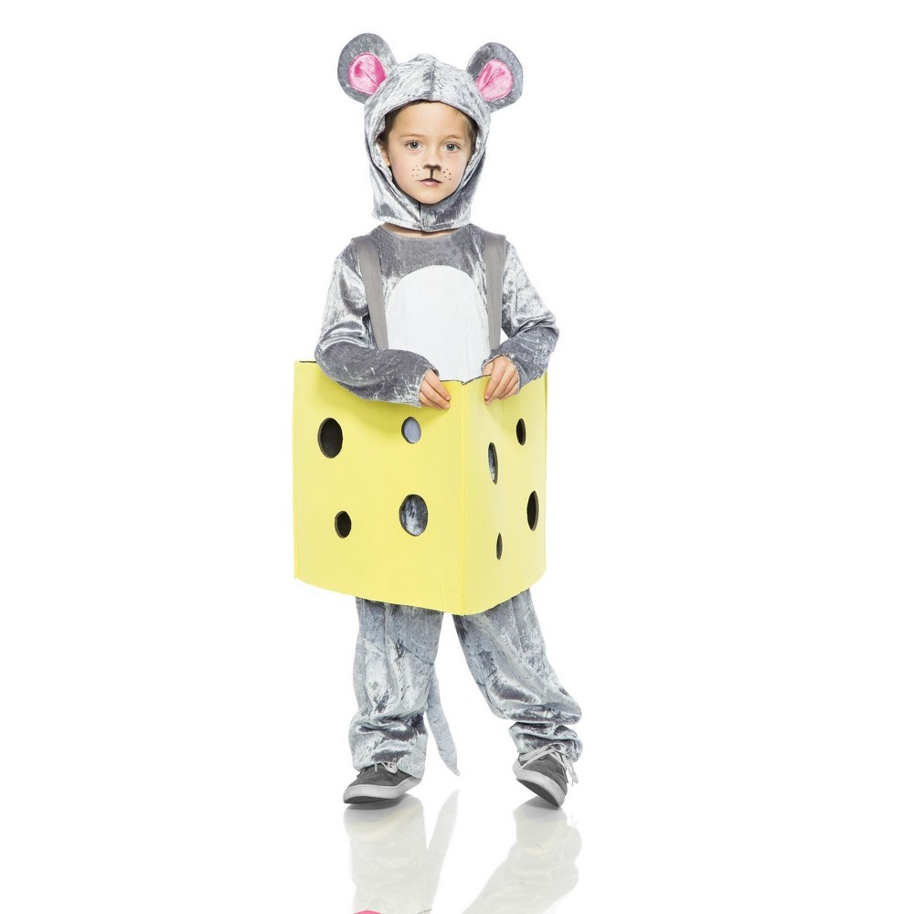 Image of Halloween Toddlers' Mouse in Cheese Halloween Costume - Seeing Red, Adult Unisex, MultiColored