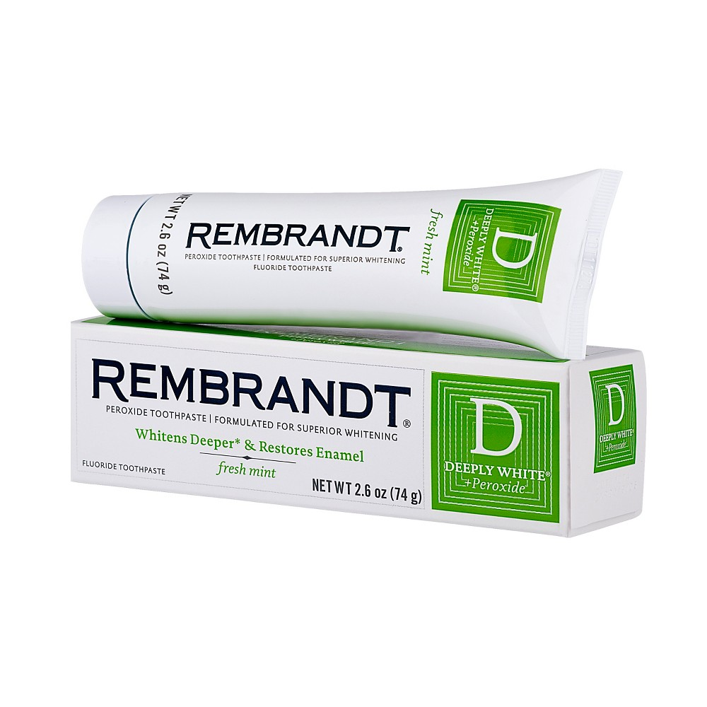 Rembrandt Deeply White & Peroxide Whitening Toothpaste - Fresh Mint - 2.6 oz