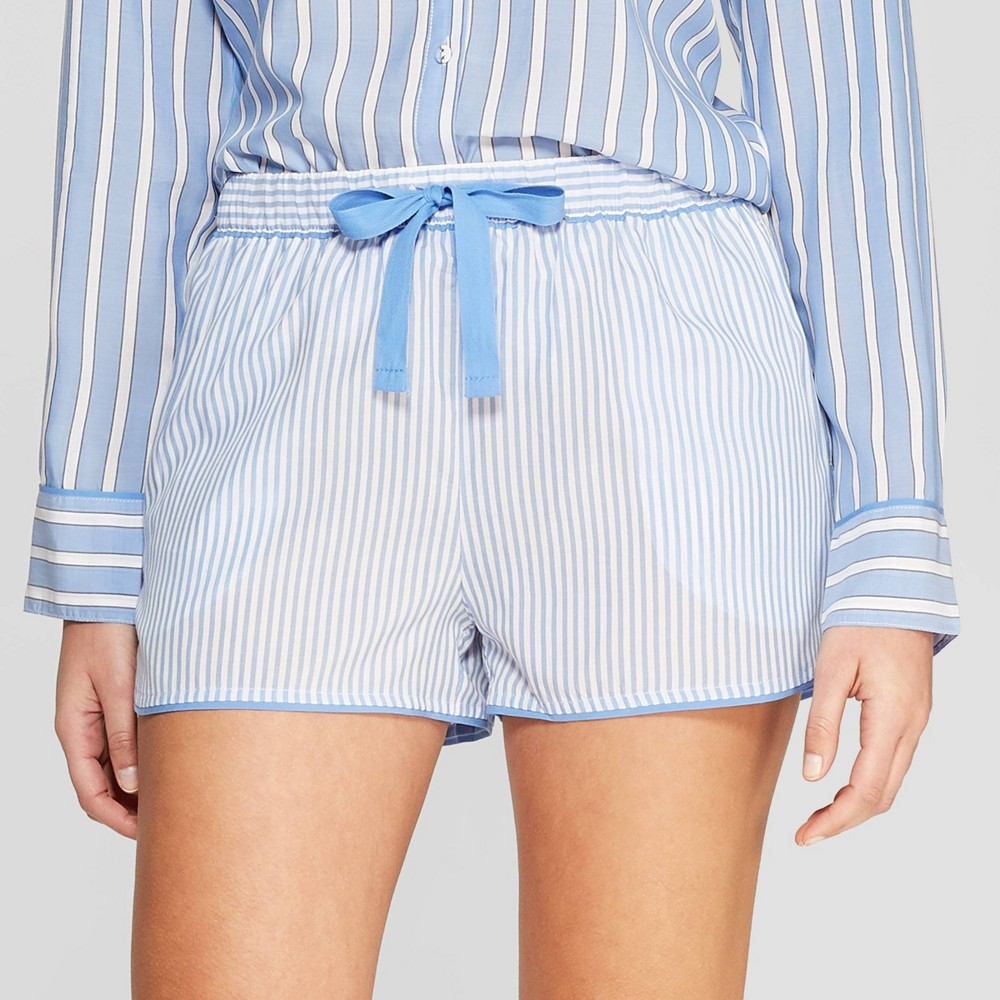 Women's Striped Simply Cool Pajama Shorts - Stars Above Blue L