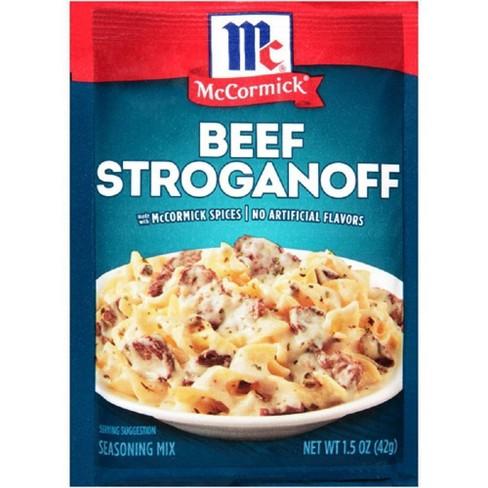 McCormick Beef Stroganoff Sauce Mix 1.5 oz - image 1 of 3