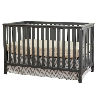 Stork Craft Hillcrest Fixed Side Convertible Crib - Gray