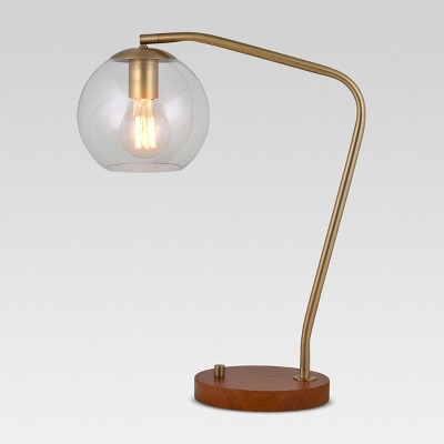 Madrot Glass Globe Desk Lamp Brass Lamp Only - Project 62™