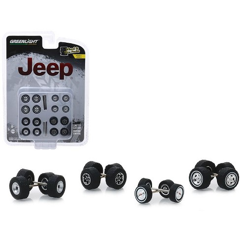 """""""Jeep"""" Wheel and Tire Multipack Set of 24 pieces """"Wheel & Tire Packs"""" Series 1 1/64 by Greenlight - image 1 of 1"""
