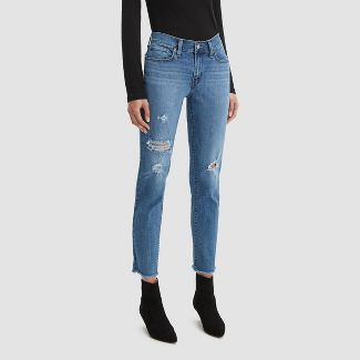 Levi's® Women's Mid-Rise Boyfriend Cropped Jeans - Hawaii Blue 27x27