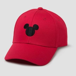 Men's Mickey Mouse Twill Baseball Hat - Red One Size