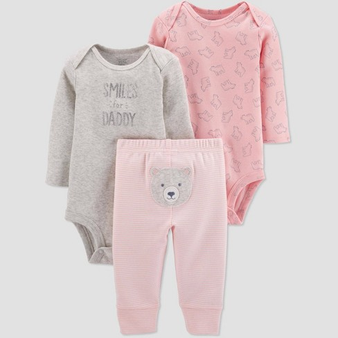 Baby Girls' 3pc Bear Top & Bottom Set - Just One You® made by carter's Pink - image 1 of 1