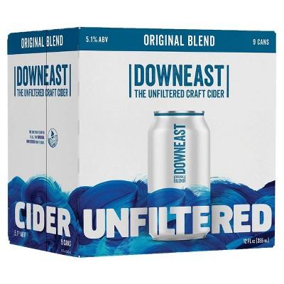 Downeast Original Blend Unfiltered Hard Cider - 9pk/12 fl oz Cans