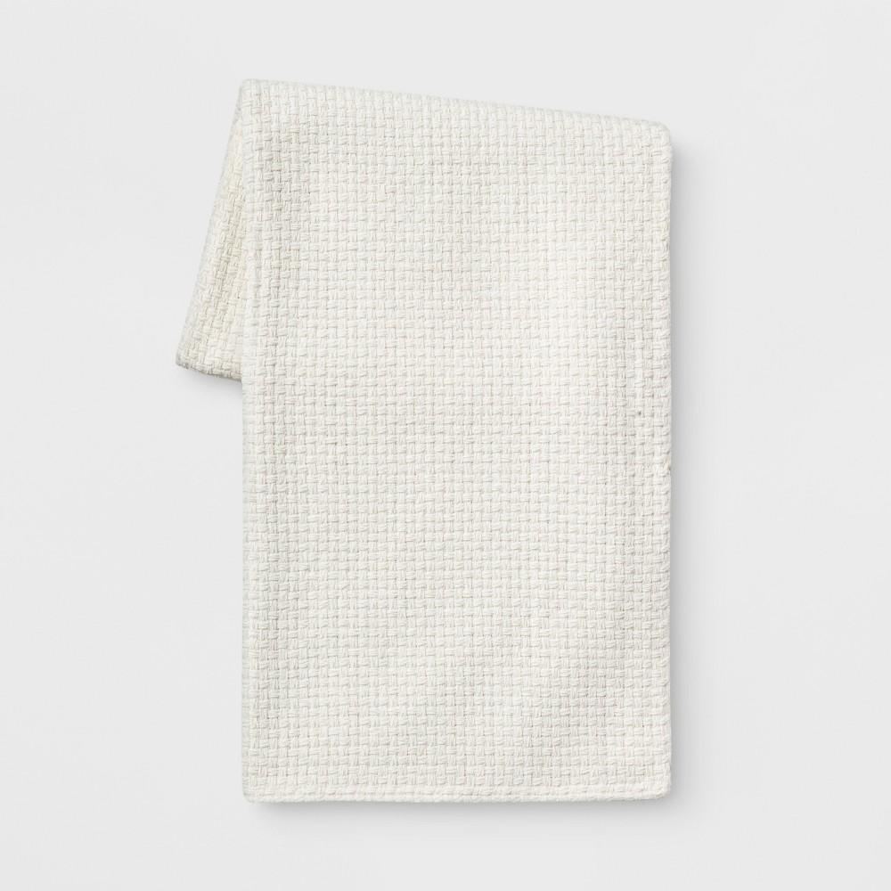 Best Review Basketweave Chenille Throw Blanket Cream Ivory Threshold