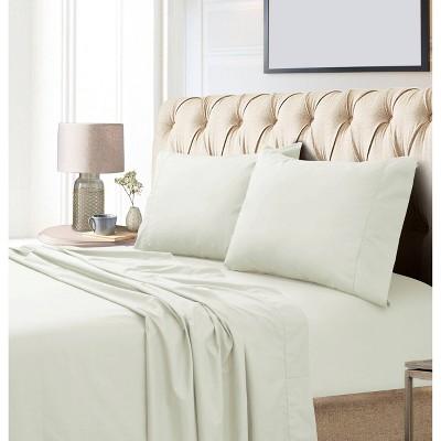 California King 800 Thread Count Extra Deep Pocket Sateen Sheet Set Ivory - Tribeca Living