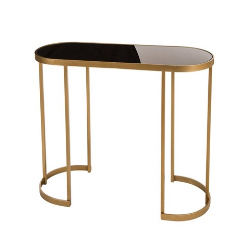 Deluxe Mirrored Console Table Gold - Glitzhome - image 1 of 7