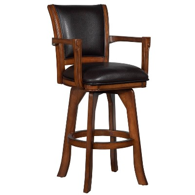 "30"" Parkview Swivel Barstool Wood Composite/Brown - Hillsdale Furniture"