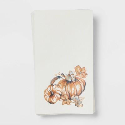 16ct Paper Pumpkin Disposable Napkins - Threshold™