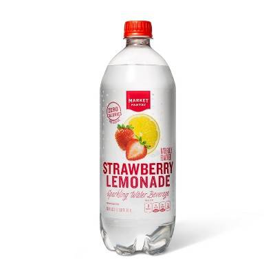 Strawberry Lemonade Sparkling Water - 1 L Bottle - Market Pantry™
