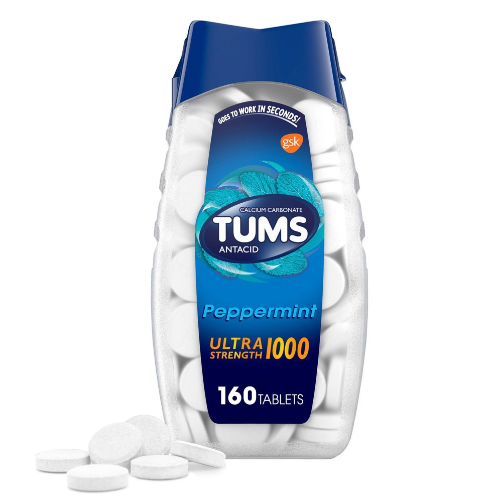 Tums Ultra Strength Mint Antacid Chewable Tablets 160ct