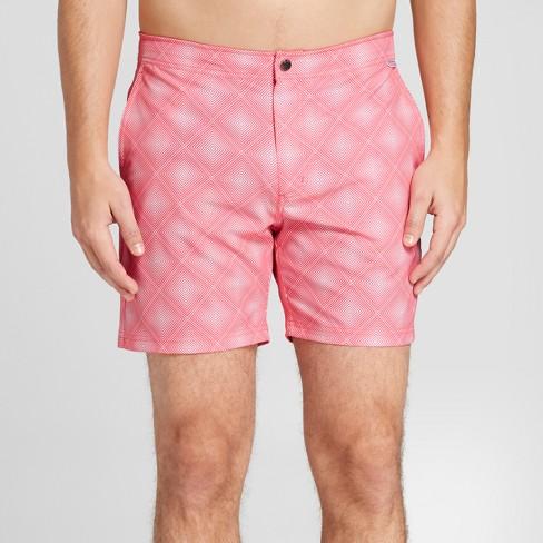 "IBIZA Ocean Club Men's 6"" Basket Weave Recreational Swim Trunk - Light Pink - image 1 of 3"