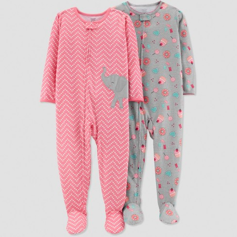 Baby Girls' Sheep Pajama Set - Just One You® made by carter's Pink - image 1 of 1