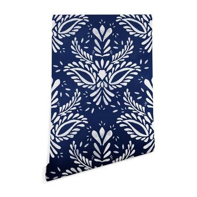 "2""x10"" Marta Barragan Camarasa Pattern Indigo Wallpaper Blue - Deny Designs"