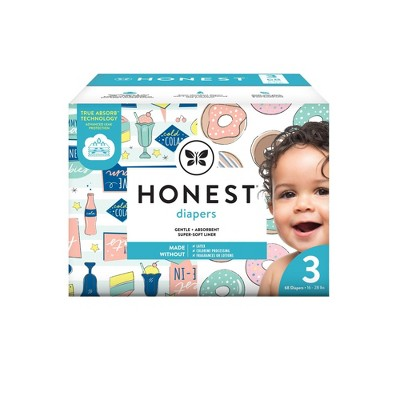 The Honest Company Donut Grow Up & Honest Drive-In Disposable Diapers - Size 3 - 68ct