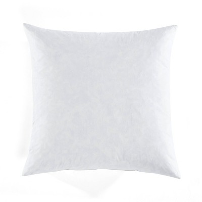 """21""""x21"""" Feather Down with Cotton Insert Square Throw Pillow Cover White - Lush Décor"""