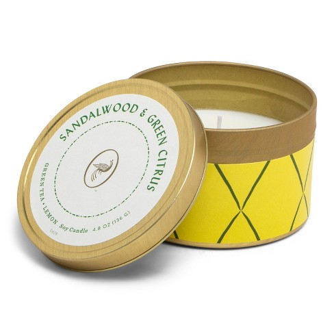 4.8oz Printed Tin Candle Sandalwood & Green Citrus - Fruit Collection - Opalhouse™ - image 1 of 2