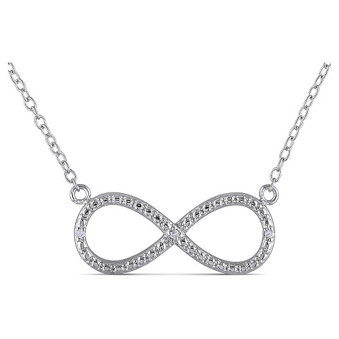 .015 CT. T.W. Diamond Infinity Necklace in Sterling Silver - image 1 of 2