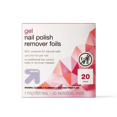Gel Nail Polish Remover Pads - 20ct - up & up™