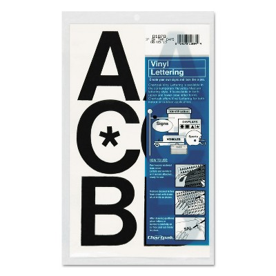 "Chartpak Press-On Vinyl Uppercase Letters Self Adhesive Black 3""h 50/Pack 01070"
