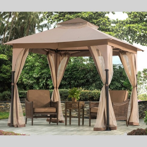 8'x8' Magnum Replacement Mosquito Netting - Brown - Sunjoy