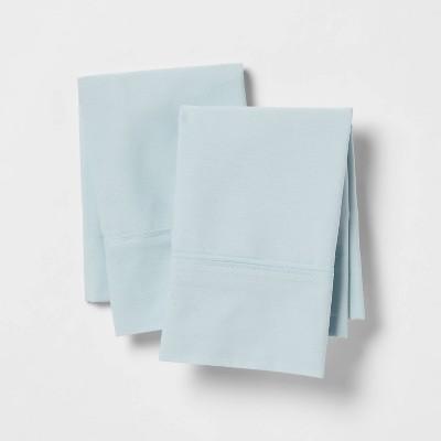 King 300 Thread Count Ultra Soft Pillowcase Set Light Blue - Threshold™