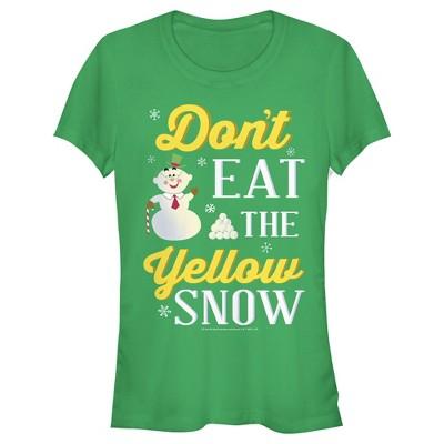 Junior's Elf Don't Eat Yellow Snow T-Shirt
