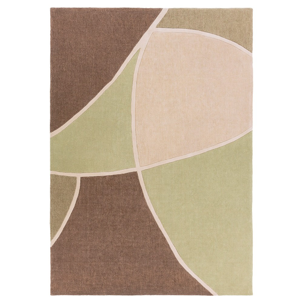 Ebino Area Rug - Moss (Green), Beige - (8' x 11') - Surya