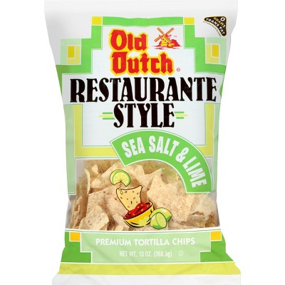 Old Dutch Restaurante Style Sea Salt & Lime Premium Tortilla Chips - 13oz